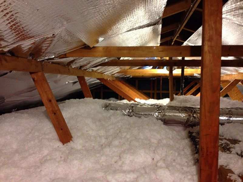 Condensation in your attic in winter can be caused by too much insulation and not enough airflow