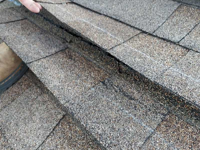 Condensation in attic in winter can be caused by roof leaks and faulty shingles.